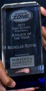 Nicholas Ruffin Named 2013 Montlick & Associates Athlete of the Year