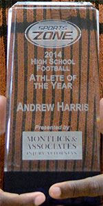 2014 Montlick & Associates Athlete of the Year Trophy