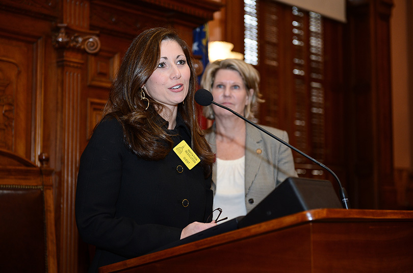 Melinda Jeffress Speaking In Front of The Georgia House of Representatives