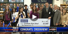 Partnership with Fox 5 Atlanta News Segment: Creekview High School Winner