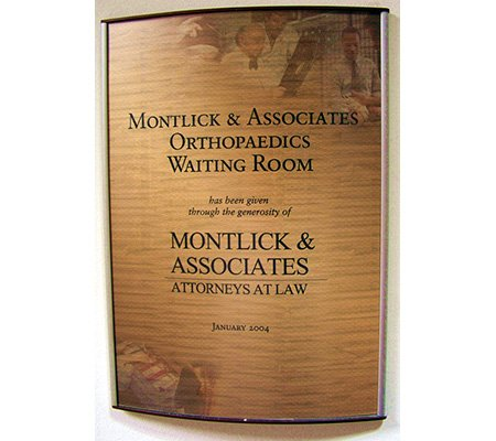 Montlick & Associates Orthopaedic Waiting Room Plaque