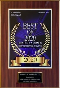 "Montlick & Associates as the ""Best of 2020 Personal Injury Law Firms""."